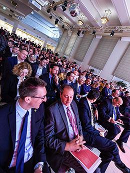 Voller Saal bei der Präsentation des Österreichischen Infrastrukturreport 2020 1